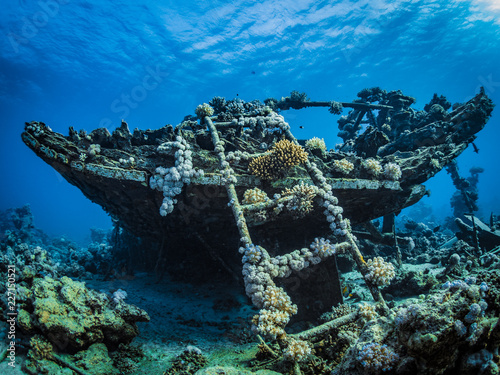 Wrack im Roten Meer in Ägypten