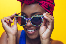Portrait Of Woman Wearing Sunglasses And Headscarf