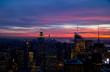Sonnenuntergang über Down Town von New York