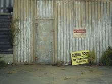 No Trespassing Sign On Old War...