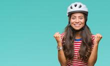 Young Arab Cyclist Woman Weari...