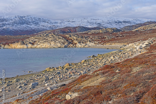 Foto op Canvas Poolcirkel Quiet Cove in the High Arctic
