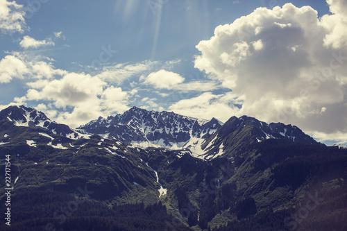 Fotografie, Obraz  Alaskan Mountains & Clouds