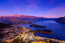 Twilight At Queenstown, New Ze...