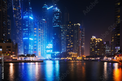 Photo  Beautiful view to Dubai Marina, UAE
