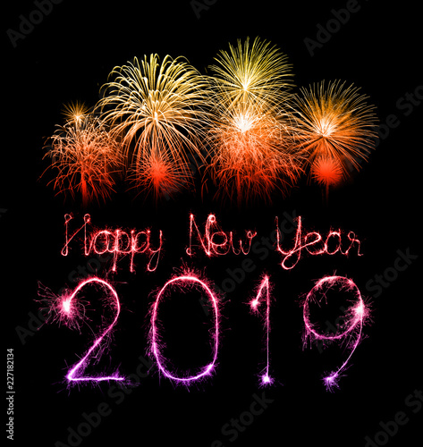 New Years Day Quotes 2019: 2019 Happy New Year With Sparkle Firework