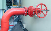 Pipeline And Valve Of Water Supply Or Service Water At Industry Zone