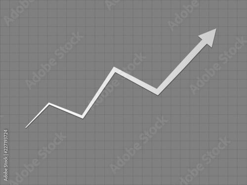 A Cool And Simple Black And White Upward Trend Growth For