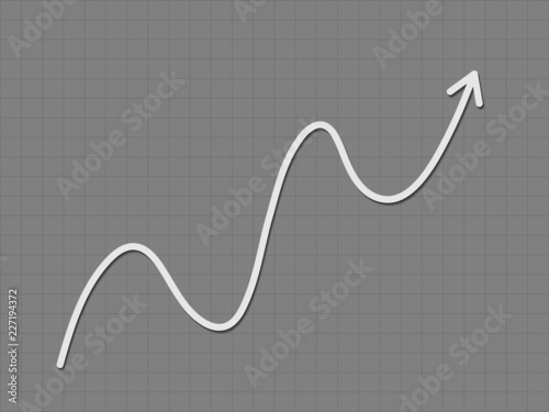 A Black And White Up Trend Growth For Success Graph For
