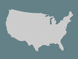 Gray or white united states of America atlas with filled lines without different states on dark background vector illustration