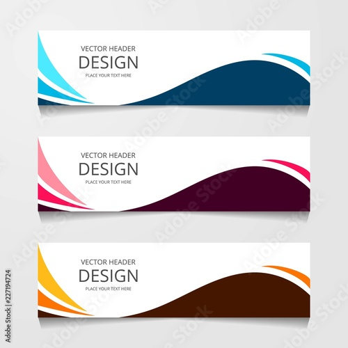 Fototapeta Abstract design banner, web template, layout header templates, modern vector illustration obraz