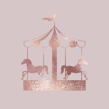 Carousel. Rose Gold. Elegant Vector Illustration