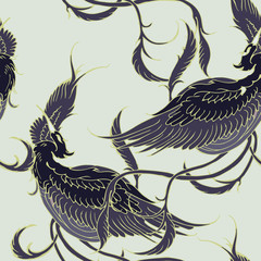 Fototapeta Orientalny Beautiful seamless pattern.