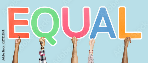 Fotografie, Obraz Colorful letters forming the word equal