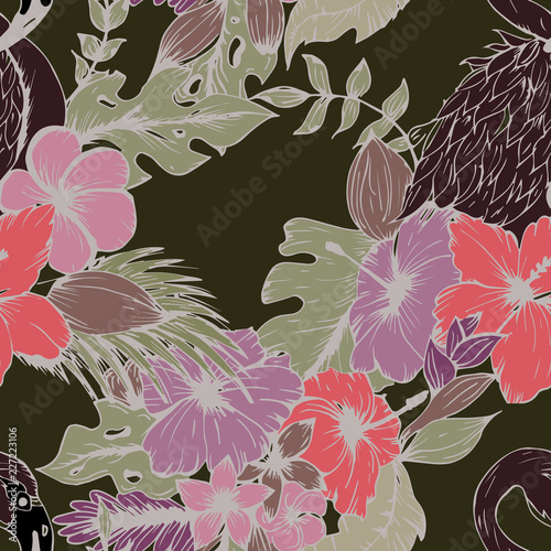 Fotobehang Bloemen Beautiful seamless floral pattern background.