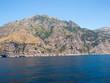 A view of the Amalfi Coast between Sorrento and Amalfi. Campania. Italy