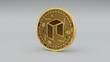 4k NEO coin Crypto Currency Logo 3D rotates finance monetary business animation.