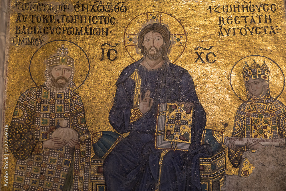 Fototapety, obrazy: Byzantine Mosaic in Hagia Sophia