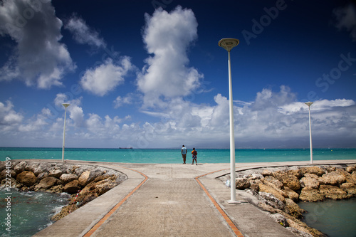 Foto op Canvas Centraal-Amerika Landen carribean beach in La Datcha, Grande-Terre, Guadeloupe