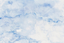 Blue Pastel Marble Texture Background In Natural Patterns With High Resolution Detailed Structure Bright And Luxurious, Seamless Pattern Of Tile Stone Floor.