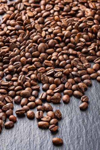 Spoed Foto op Canvas Buffet, Bar coffee beans on dark background