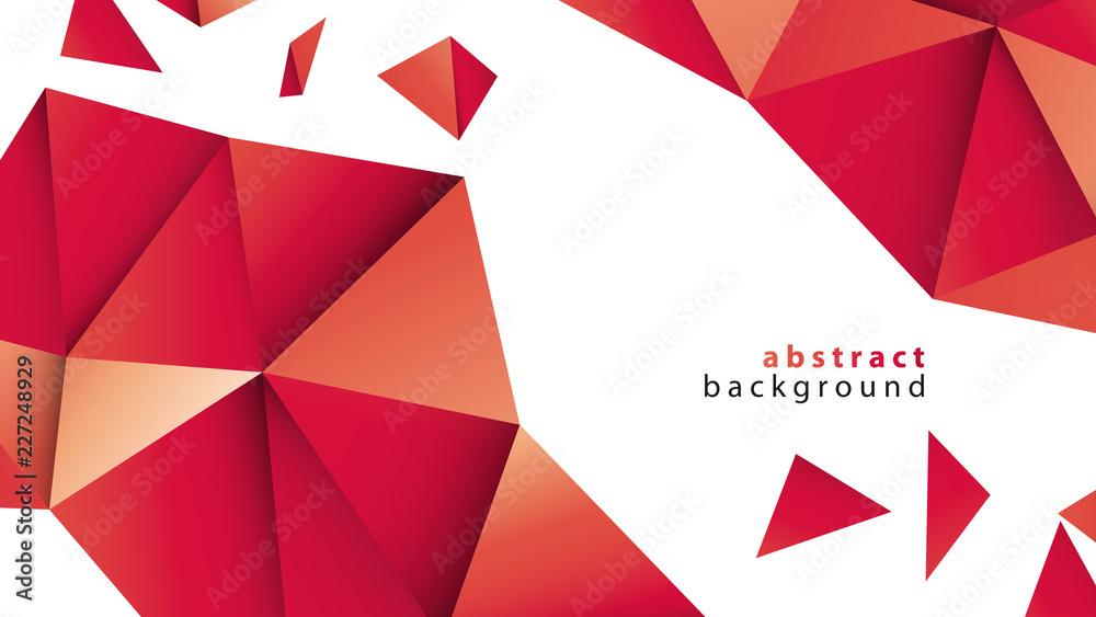 Fototapeta czerwone trójkąty tło wektor