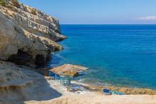 Gulf Of Matala Beach, Crete, Greece