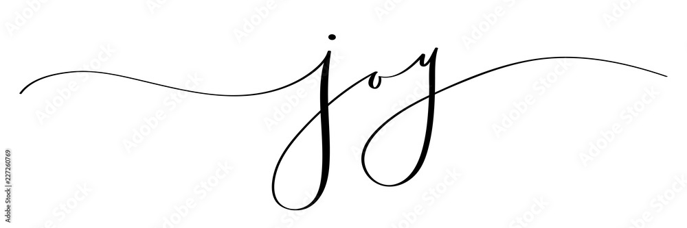 Fototapeta JOY brush calligraphy banner