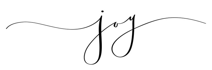 JOY brush calligraphy banner