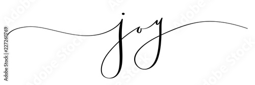 Fotografía  JOY brush calligraphy banner