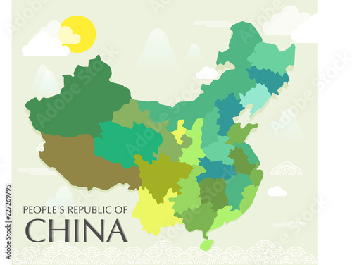 Fotografía  Map Of China Vector And Illustration.