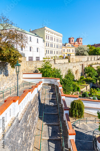 Photo  Fortification walls and baileys in historical city centre of Litomerice, Czech Republic