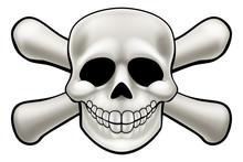 Cartoon Pirate Skull And Cross...