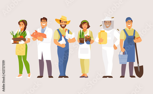 Tablou Canvas Agricultural professions vector