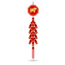 Red Chinese Firecracker Flat I...