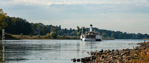 Dampfschifffahrt auf der Elbe in Sachsen