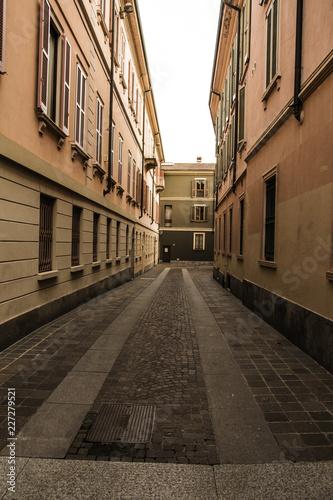 Fotobehang Industrial geb. Monza center street Italy