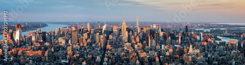 Keuken foto achterwand New York City Manhattan Skyline Panorama, New York City, USA