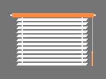 Window-Blind Interior Piece Vector Illustration