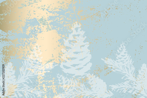 Trendy Chic Pastel Colored Background With Gold Foil Shapes