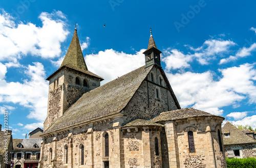 Foto op Canvas Europa Church in Riom-es-Montagnes village, France