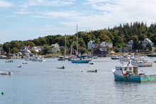 Beautiful View Of Vinalhaven, ME Harbor