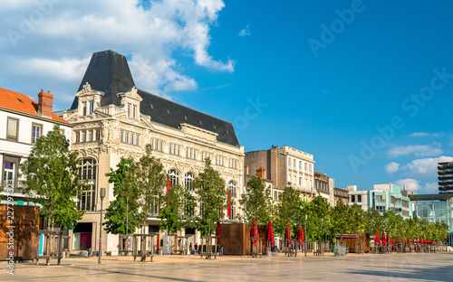 Foto op Canvas Europa Historic buildings in Clermont-Ferrand, France