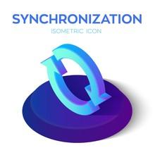 Synchronization Isometric Icon...