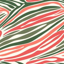 Seamless Zebra Stripe Pattern. Vector Animal Skin Background Print.