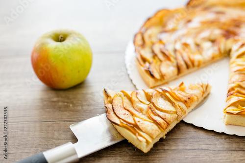 Photo  Part de tarte aux pommes
