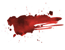 Blood Splatter Painted Art On ...