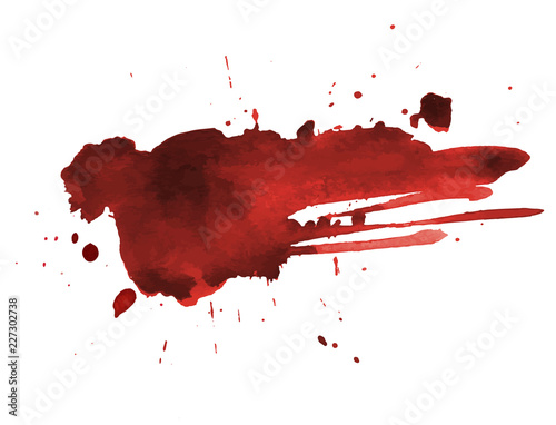 Stampa su Tela Blood splatter painted art on white for halloween design