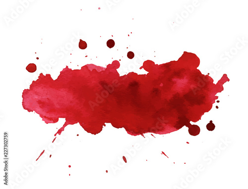 Fotomural  Blood splatter painted art on white for halloween design