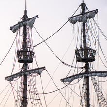 Two Masts With Viewpoint Platforms On Sailship